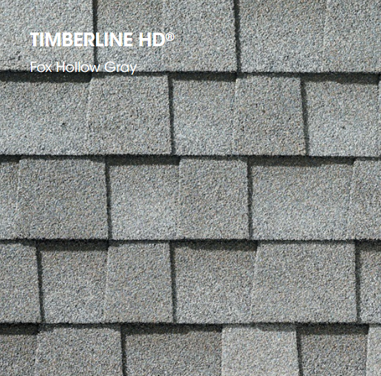 Timberline HD Fox Hollow Gray Shingle